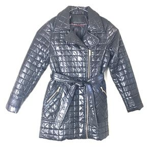 Attention, City Walker Quilted Puffer Coat, Size M